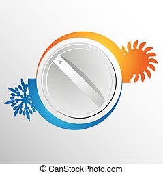 Air conditioning switch vector illustration