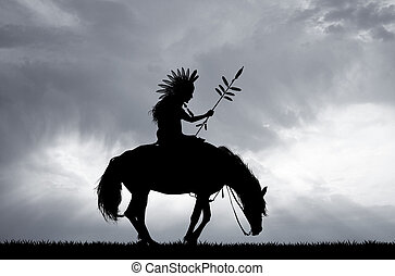 Native American Indian - illustration of Native American...