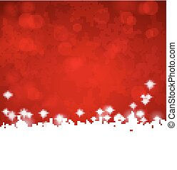 Snowflake Burgundy Card - Snowflakes, Frosty Burgundy Card