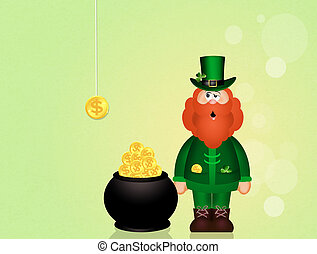 Leprechaun of Saint Patrick Day - illustration of Leprechaun...