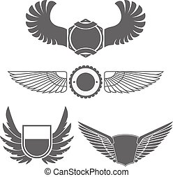 Emblems with wings