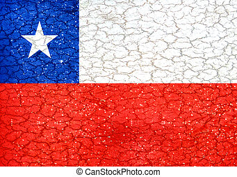 Grunge Style Chile National Flag - Chile national flag in...