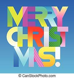 Merry Christmas decorative text