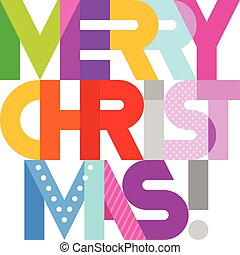 Merry Christmas text design - Merry Christmas! - vibrant...