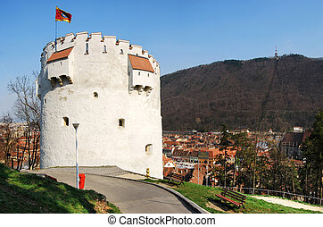 White Tower, Brasov, Romania - The White Tower is located 60...