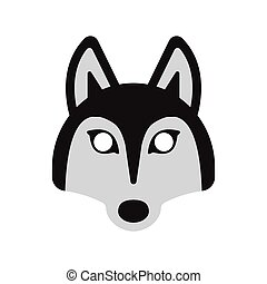 dog husky mask - face mask animal dog husky, on a white...