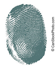 Fingerprint - Printout of human fingerprint with unique...