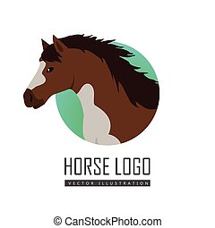 Horse Vector Illustration in Flat Design - Horse flat style...