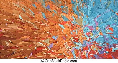 Polygonal colorful abstract graphic background movement look...