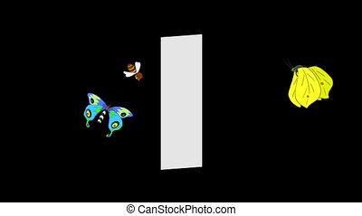 Letter I and Insect (foreground) - Animated animal alphabet....
