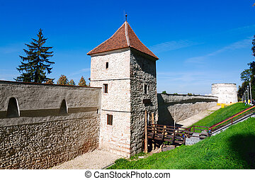 Brasov fortress tower in Romania - Most work was done...