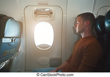 Comfortable traveling by airplane