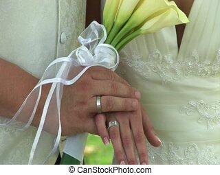 Hands Of Wedding Pair