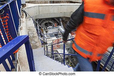 Underground construction mine drilling metro tunnel