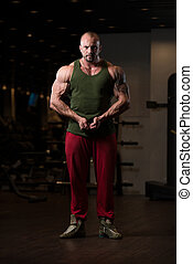 Portrait Of A Physically Fit Muscular Man - Portrait Of A...
