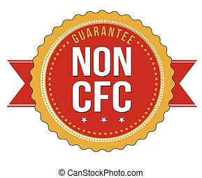 Non CFC product label or sticker on white background, vector...
