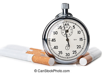Smoking kills over time isolated on a white background