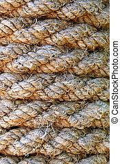 antigas, corda, textura
