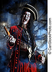 buccaneer of hell - Portrait of a noble brave dead pirate....