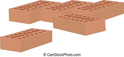 some bricks in terracotta - some double terracotta bricks in...
