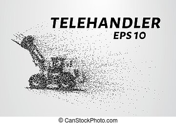 Telehandler of the particles. Telescopic loader consists of...