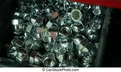 female screw screw-nut internal screw artist background...