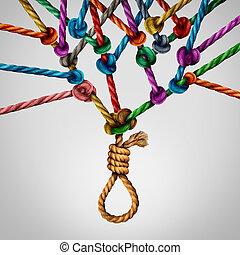 Social Suicide Concept