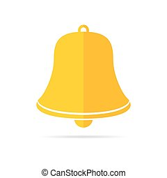 Handbell icon. Vector illustration. - Handbell icon isolated...