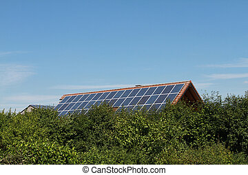 Solar cells - With solar cells on the roof can generate...