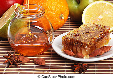 still life of honey