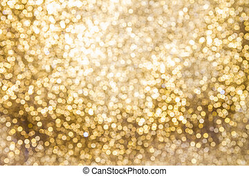 Background of Golden lights with bokeh effect - Golden...