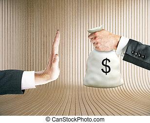 Stop corruption concept