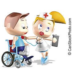 Puds, Sygeplejerske, Mand