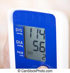 Blood pressur pulse rate meter - Portable hand held domestic...