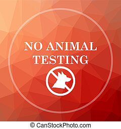 No animal testing icon. No animal testing website button on...