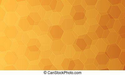 Background with orange and yellow honeycombs. Vector...