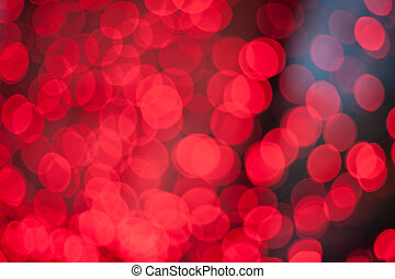 red lights bokeh for background
