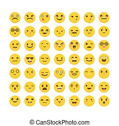 Set of emoticons. Avatars. Big collection with different...