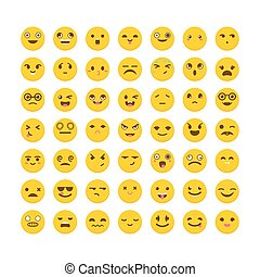 Set of emoticons. Avatars. Cute emoji icons. Big collection...