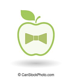 Isolated healthy apple fruit with  a neck tie icon