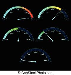 Power or Speed Meter Dashboard Gauge - Power or Speed Meter....