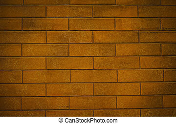 Background of red brick wall. Closeup shot