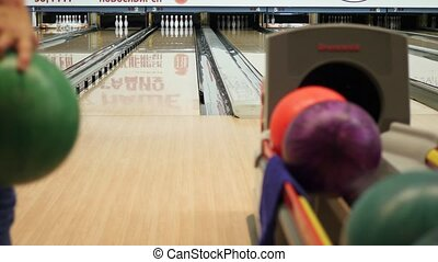 teen play in the bowling club