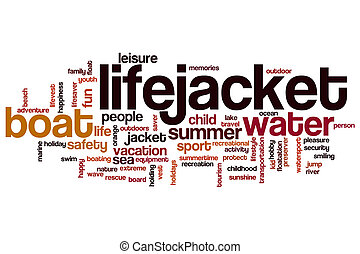 Lifejacket word cloud concept
