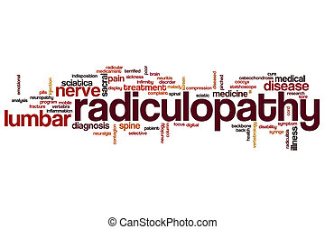 Radiculopathy word cloud concept
