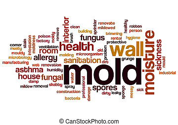 Mold word cloud concept
