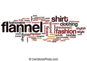 Flannel word cloud concept