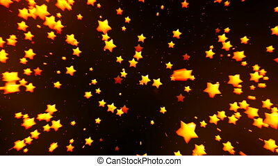 Falling golden stars HD 1080 loop