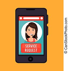 service request call center girl