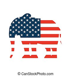 republican party emblem isolated icon